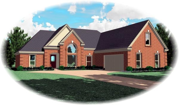 Traditional House Plan 47040 Elevation