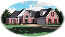 Traditional House Plan 47042 with 3 Beds, 2 Baths, 2 Car Garage Elevation