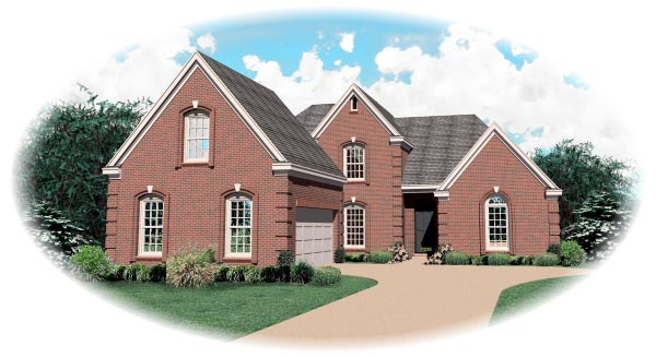 Traditional House Plan 47045 Elevation