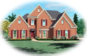 Tudor House Plan 47046 Elevation