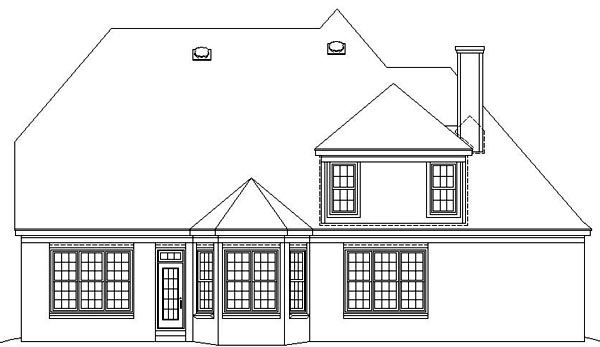 Tudor House Plan 47046 Rear Elevation