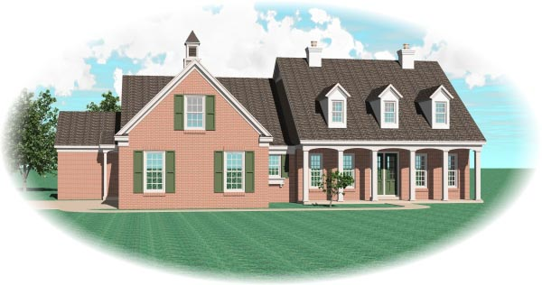 Cape Cod House Plan 47049 Elevation