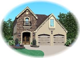 House Plan 47066 with 3 Beds, 3 Baths, 2 Car Garage Elevation