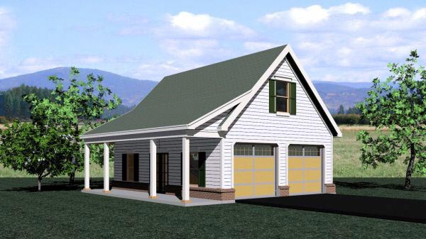 Traditional Garage Plan 47070 Elevation