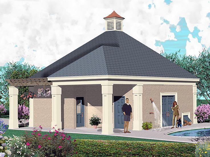 Coastal Country Garage Plan 47071 Rear Elevation