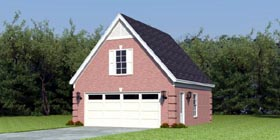 Traditional 2 Car Garage Apartment Plan 47080 Elevation