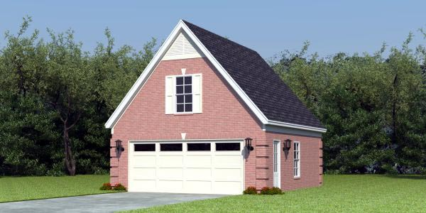Traditional Garage Plan 47080 Elevation