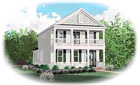 House Plan 47092 Elevation