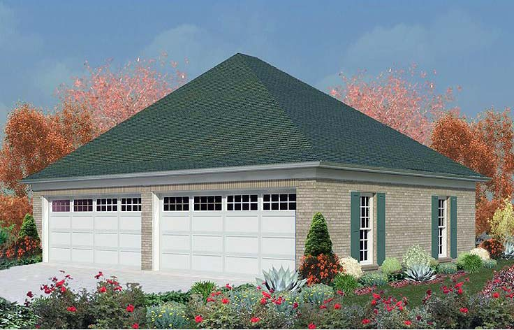 Garage Plan 47093 Elevation