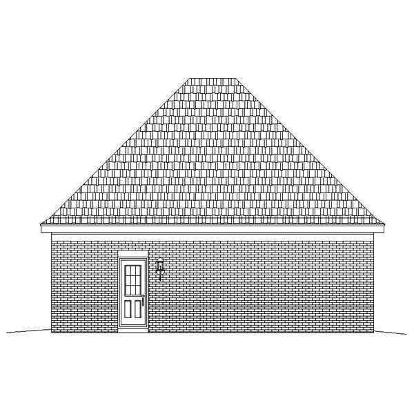 Garage Plan 47093 Rear Elevation