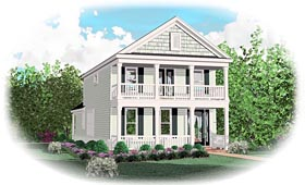 Traditional House Plan 47095 Elevation