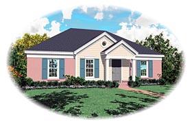 House Plan 47097 Elevation