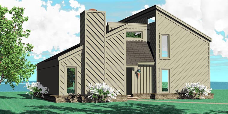 Traditional House Plan 47098 Rear Elevation