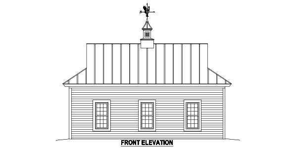 Farmhouse 2 Car Garage Apartment Plan 47099 with 1 Beds, 1 Baths Picture 1