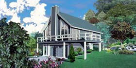 House Plan 47103 with 2 Beds, 1 Baths, 2 Car Garage Elevation
