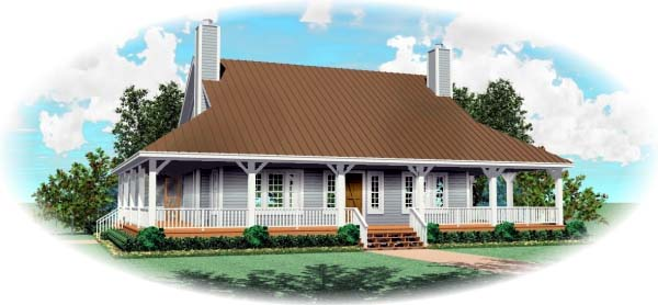 House Plan 47109 with 3 Beds, 3 Baths, 2 Car Garage Elevation
