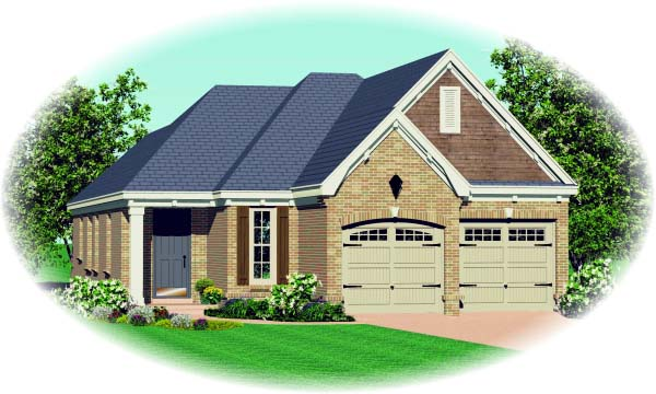 House Plan 47117 with 3 Beds, 2 Baths Elevation