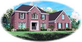 House Plan 47123 | Style Plan with 2688 Sq Ft, 3 Bedrooms, 3 Bathrooms, 2 Car Garage Elevation