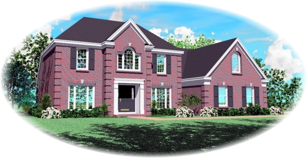 House Plan 47123 Elevation
