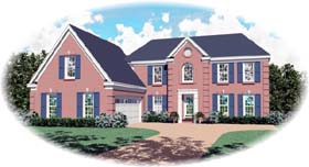 House Plan 47124 Elevation