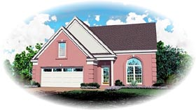 House Plan 47130 with 3 Beds, 3 Baths, 2 Car Garage Elevation