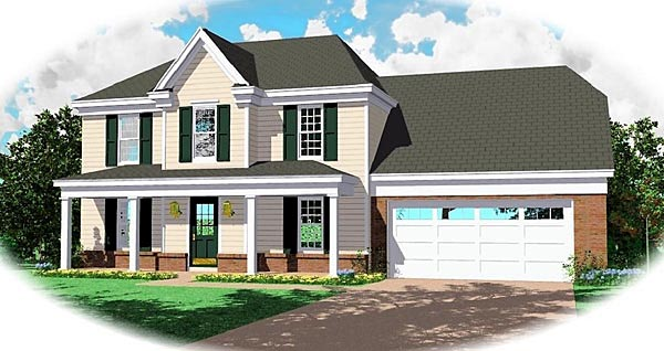 Colonial Country Traditional House Plan 47131 Elevation