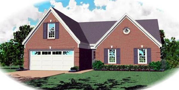 Traditional House Plan 47137 Elevation