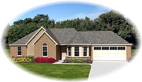 Traditional House Plan 47139 with 3 Beds, 2 Baths, 2 Car Garage Elevation