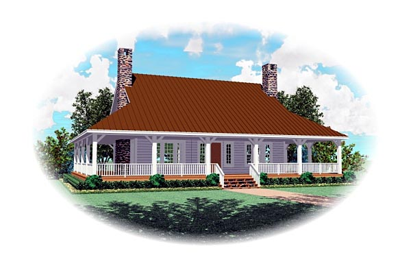 Country Florida Traditional House Plan 47140 Elevation