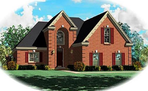 Traditional House Plan 47141 Elevation