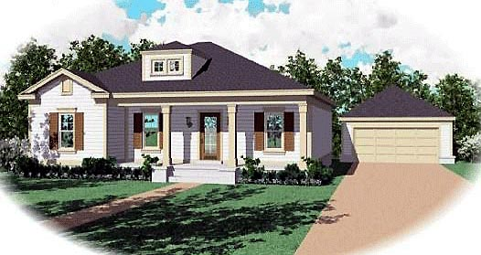 Traditional House Plan 47142 with 3 Beds, 2 Baths Elevation