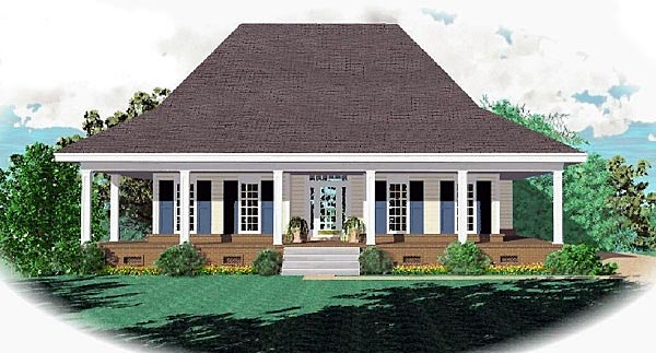Country House Plan 47146 Elevation