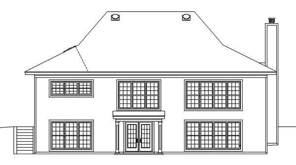 Country House Plan 47146 Rear Elevation