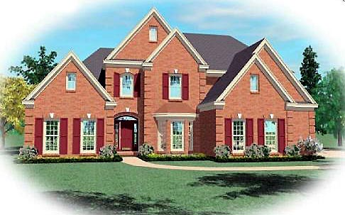 Traditional House Plan 47148 with 4 Beds, 4 Baths, 2 Car Garage Elevation