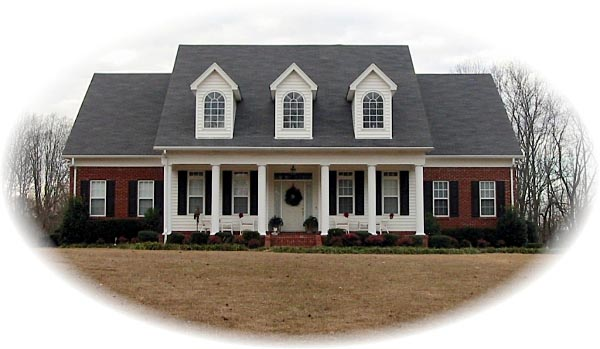 Colonial, Country, Traditional House Plan 47150 with 4 Beds, 4 Baths, 2 Car Garage Elevation