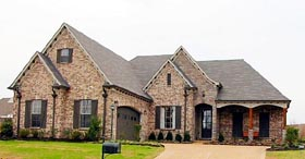 Traditional House Plan 47151 with 3 Beds, 2 Baths, 2 Car Garage Elevation