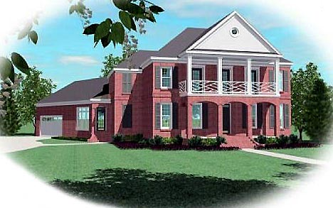 Colonial Traditional House Plan 47154 Elevation