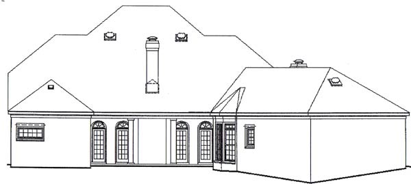 Colonial Traditional House Plan 47154 Rear Elevation