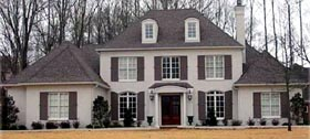 Traditional House Plan 47159, 3 Car Garage Elevation