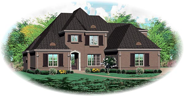 Traditional House Plan 47162 Elevation