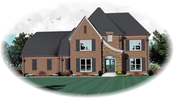 House Plan 47172 Elevation