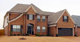 House Plan 47182 | Style Plan with 3031 Sq Ft, 3 Bedrooms, 3 Bathrooms, 2 Car Garage Elevation