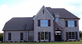 House Plan 47187 | Style Plan with 3259 Sq Ft, 5 Bedrooms, 4 Bathrooms, 2 Car Garage Elevation