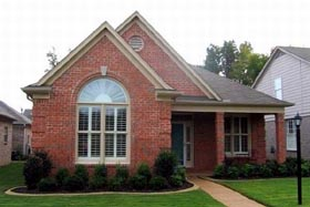 House Plan 47191 | Style Plan with 1837 Sq Ft, 3 Bedrooms, 2 Bathrooms, 2 Car Garage Elevation