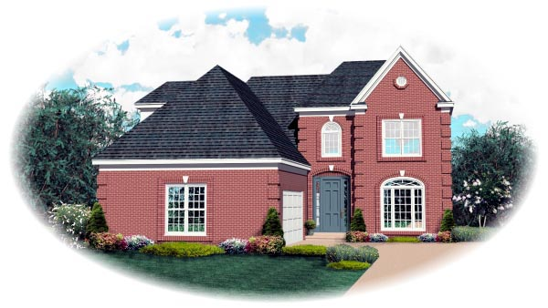 House Plan 47192 with 3 Beds, 3 Baths, 2 Car Garage Elevation