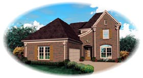 House Plan 47193 | Style Plan with 2881 Sq Ft, 3 Bedrooms, 3 Bathrooms, 2 Car Garage Elevation