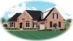 House Plan 47204 Elevation