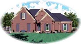 House Plan 47207 Elevation