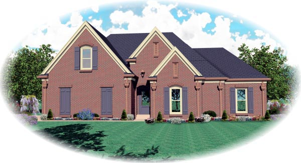 House Plan 47207 Elevation