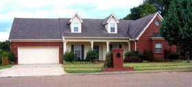 House Plan 47210 | Style Plan with 1968 Sq Ft, 4 Bedrooms, 2 Bathrooms, 2 Car Garage Elevation